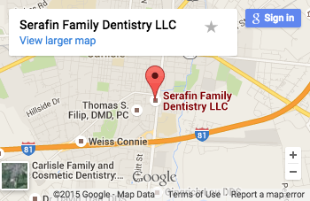 Serafin Family Dentistry Map